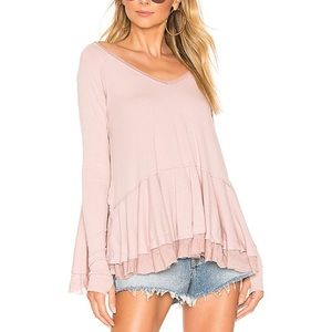 New with tags free people tangerine tee mauve xs